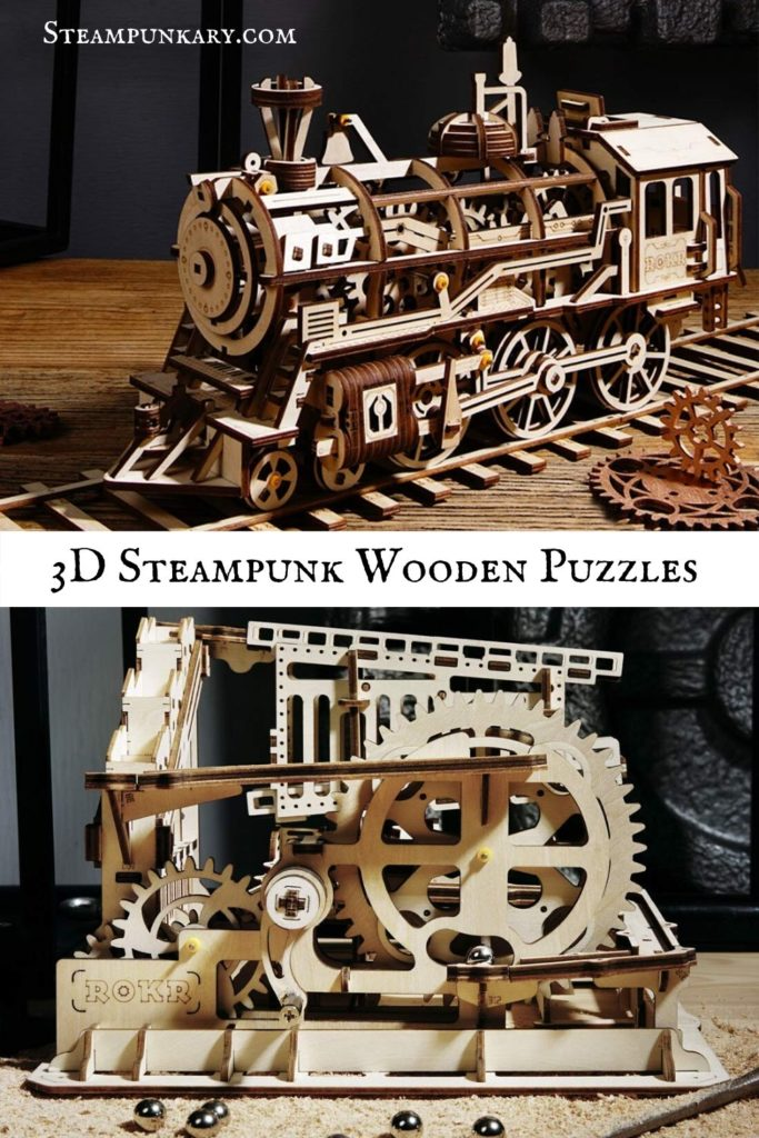 3D Steampunk Wooden Puzzles for Teens Adults