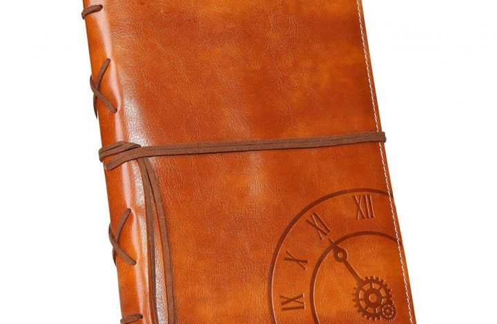 Refillable Embossed Vintage Leather Writing Journals