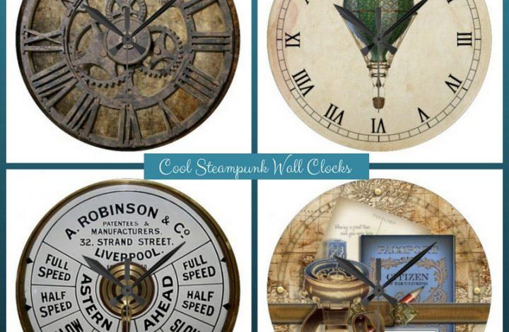 Cool Steampunk Wall Clocks