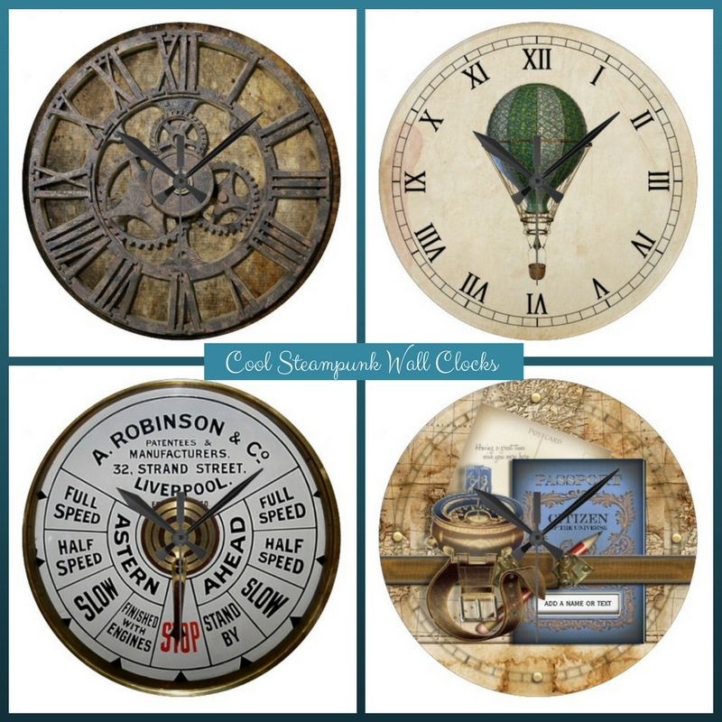 Cool Steampunk Wall Clocks