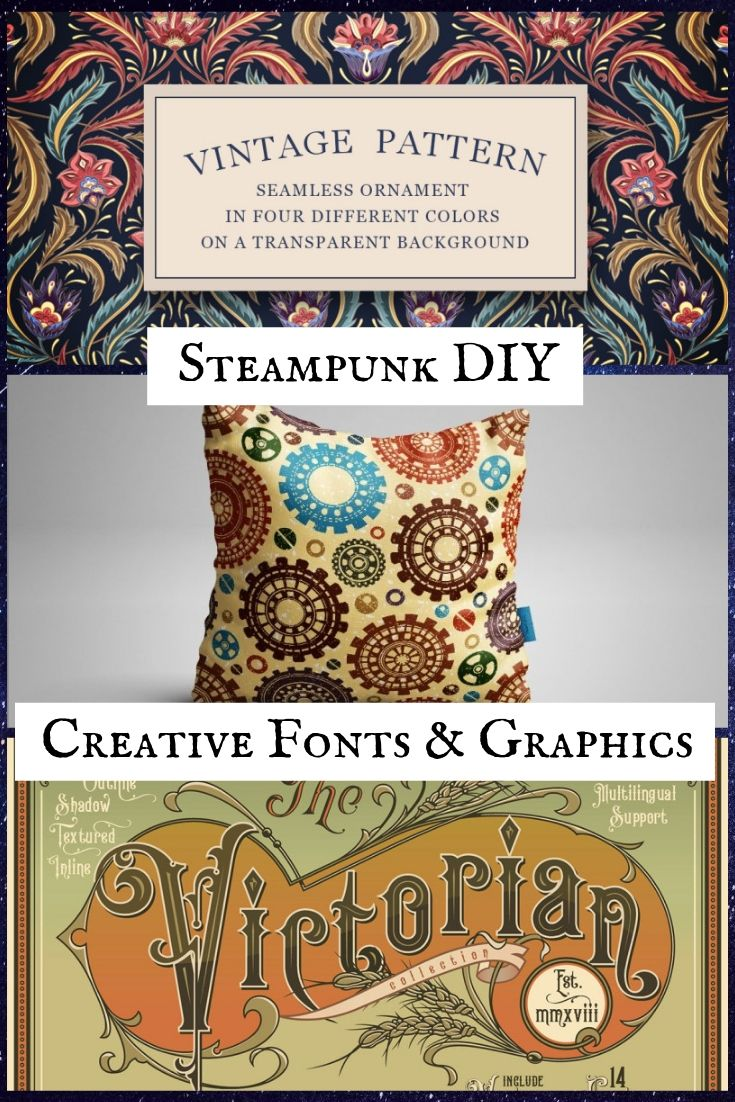 DIY Steampunk Creative Fonts and Graphics to Craft and Design