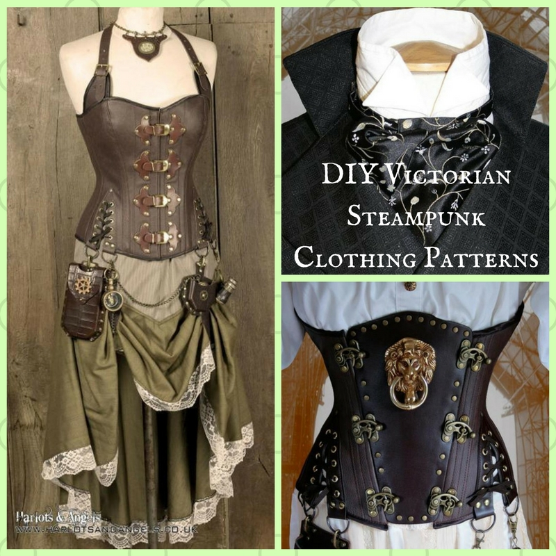 graphic regarding Printable Angel Gown Patterns identified as Exceptional Do it yourself Victorian Steampunk Apparel Models in opposition to