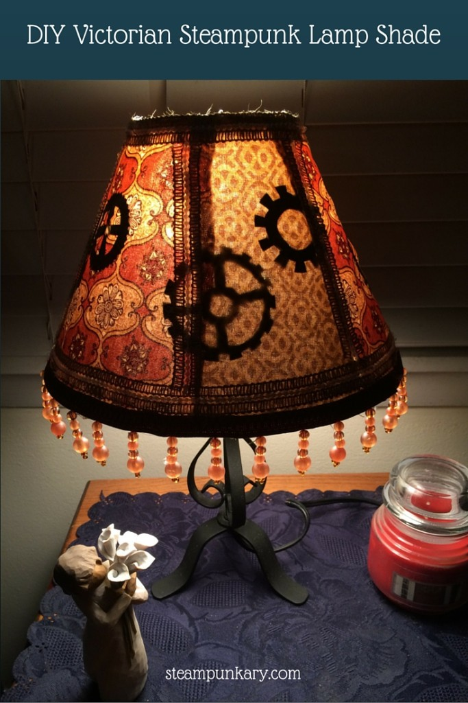 DIY Victorian Steampunk Lamp Shade