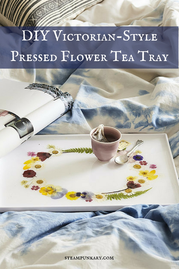 DIY Victorian-Style Pressed Flower Tea Tray