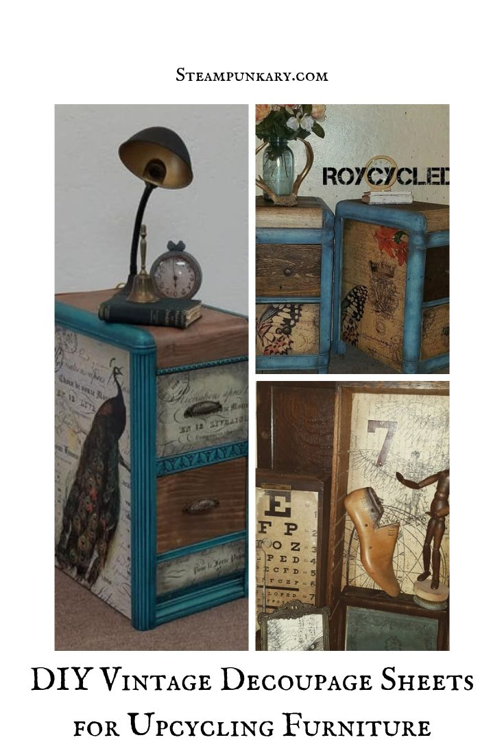DIY Vintage Decoupage Sheets for Upcycling Furniture
