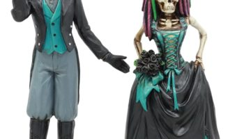 Day of the Dead Steampunk Skeleton Bride and Groom