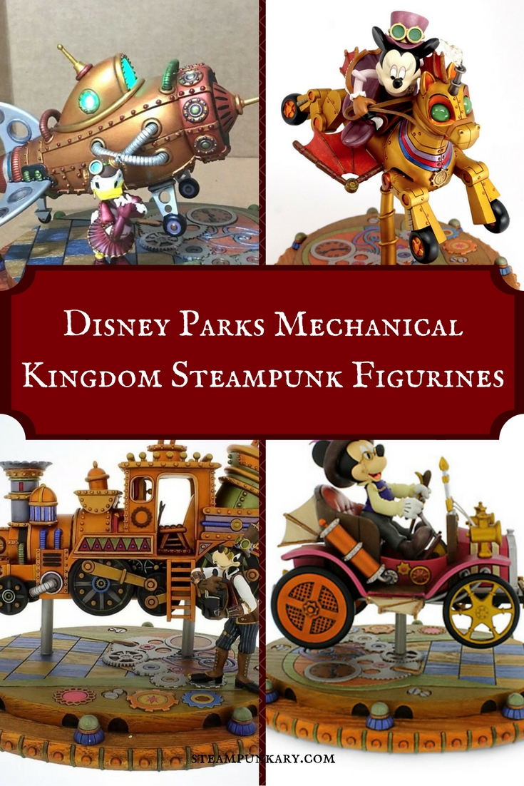 Disney Parks Mechanical Kingdom Steampunk Figurine
