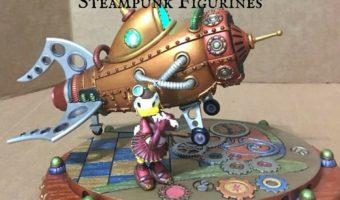 Disney Parks Mechanical Kingdom Steampunk Figurines