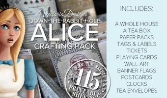 Vintage Alice in Wonderland Party Printables, Invitations & Supplies