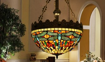 Dragonfly Tiffany Style Hanging Lamp