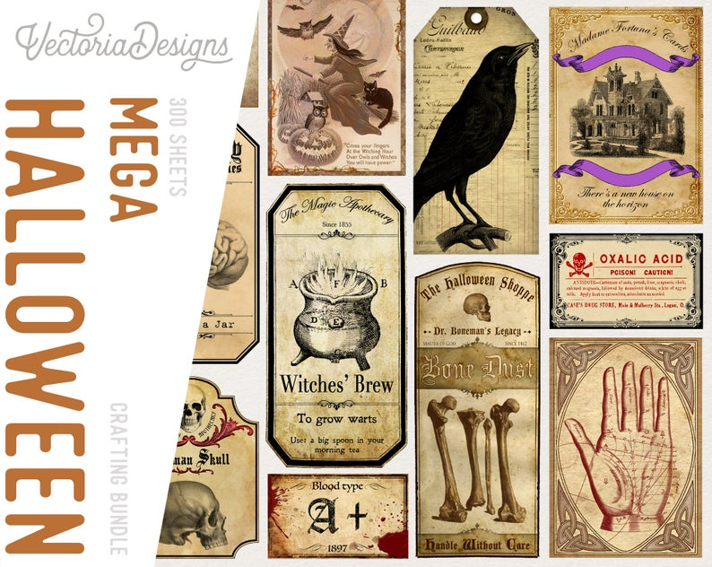 Halloween Crafting Printables and Papers Bundles
