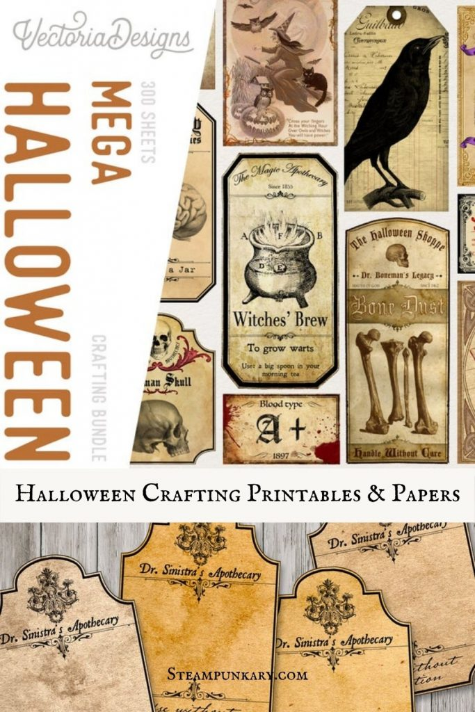 Halloween Crafting Printables and Papers