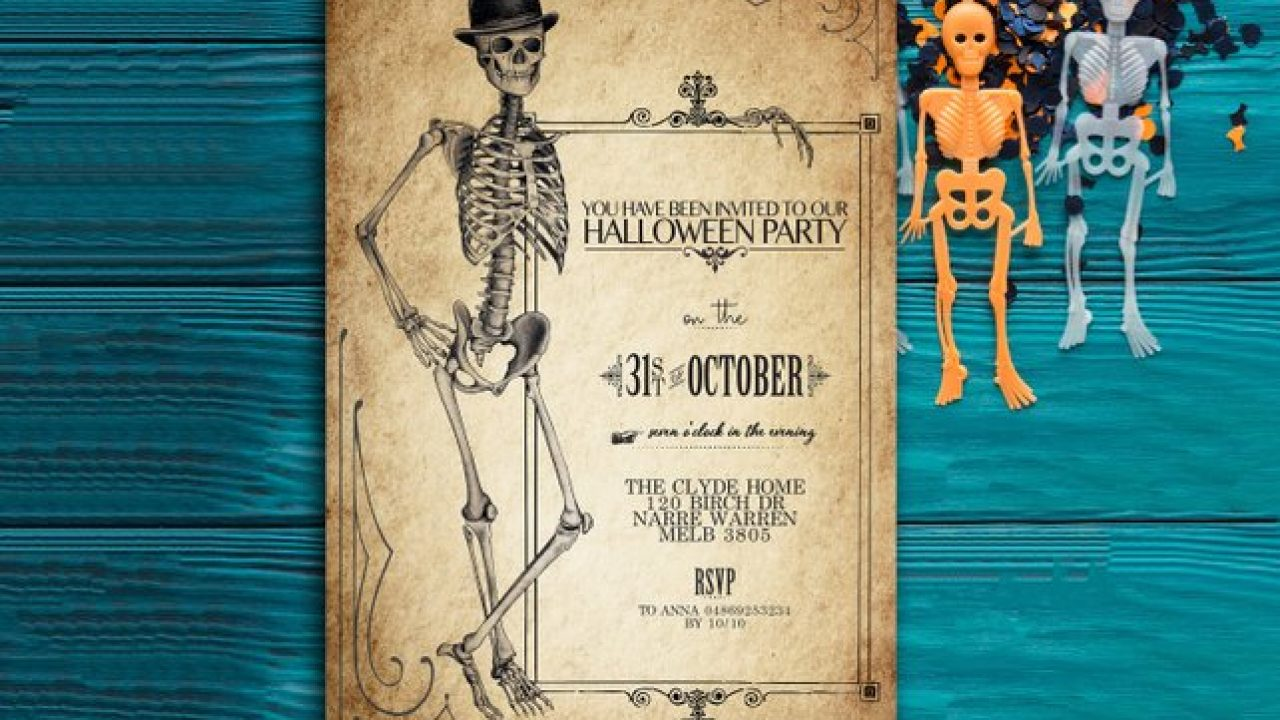 picture relating to Halloween Invitations Printable named Printable Common Halloween Invites - Steampunkary