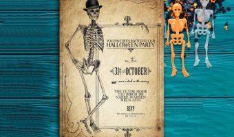 Printable Vintage Halloween Invitations