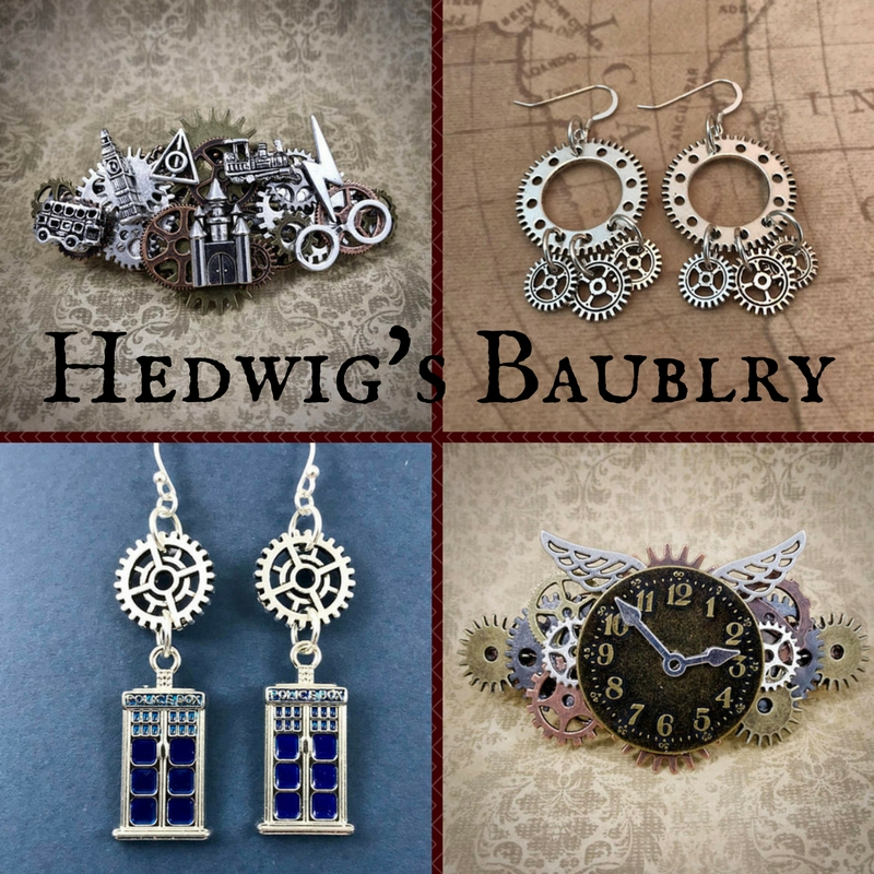 Hedwig's Baublry Features Steampunk Harry Potter Hair Ornaments & Jewelry