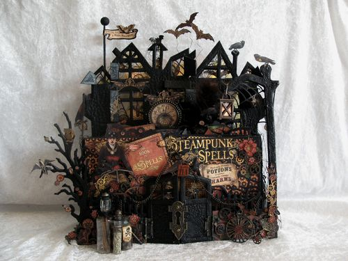 Steampunk Spells House Display