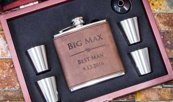 Personalized Flasks for Steampunk Wedding Groomsmen Gifts