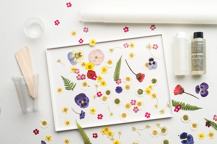 Materials for Pressed Flower Tray