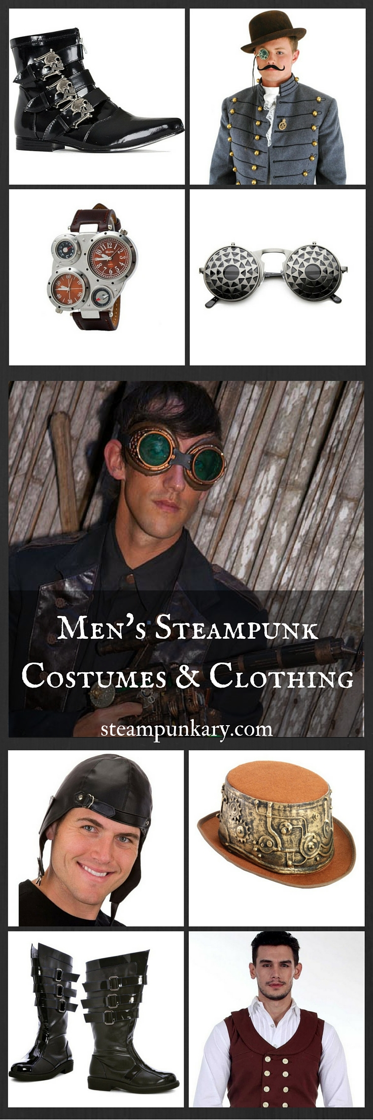 Men's Steampunk Costumes and Clothing