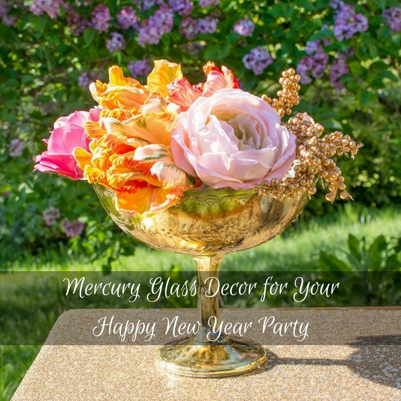Mercury Glass Decor for Your Happy New Year Party