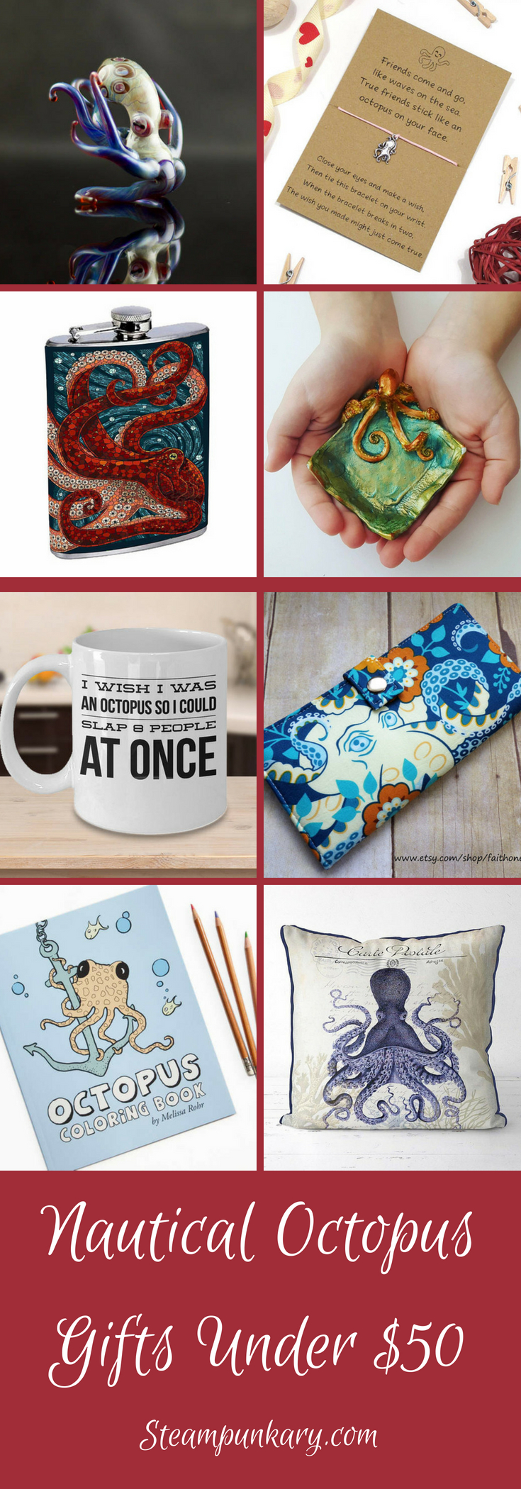Nautical Octopus Gifts Under $50