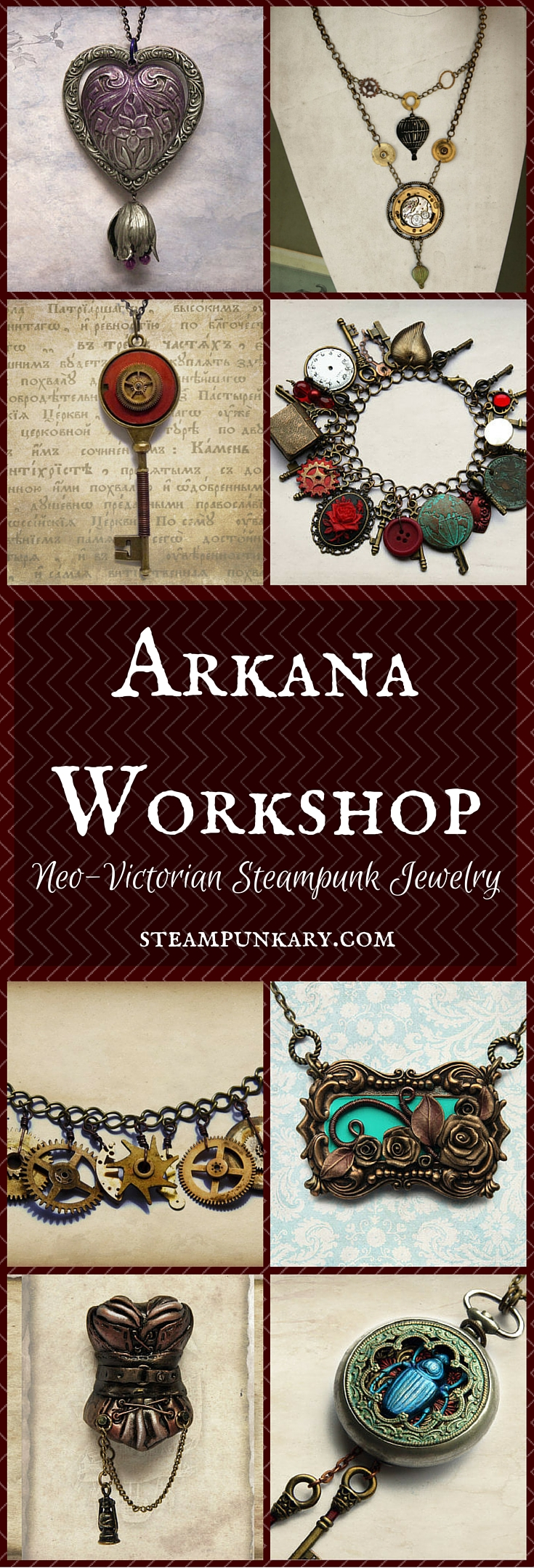 Neo-Victorian and Gothic Steampunk Jewelry