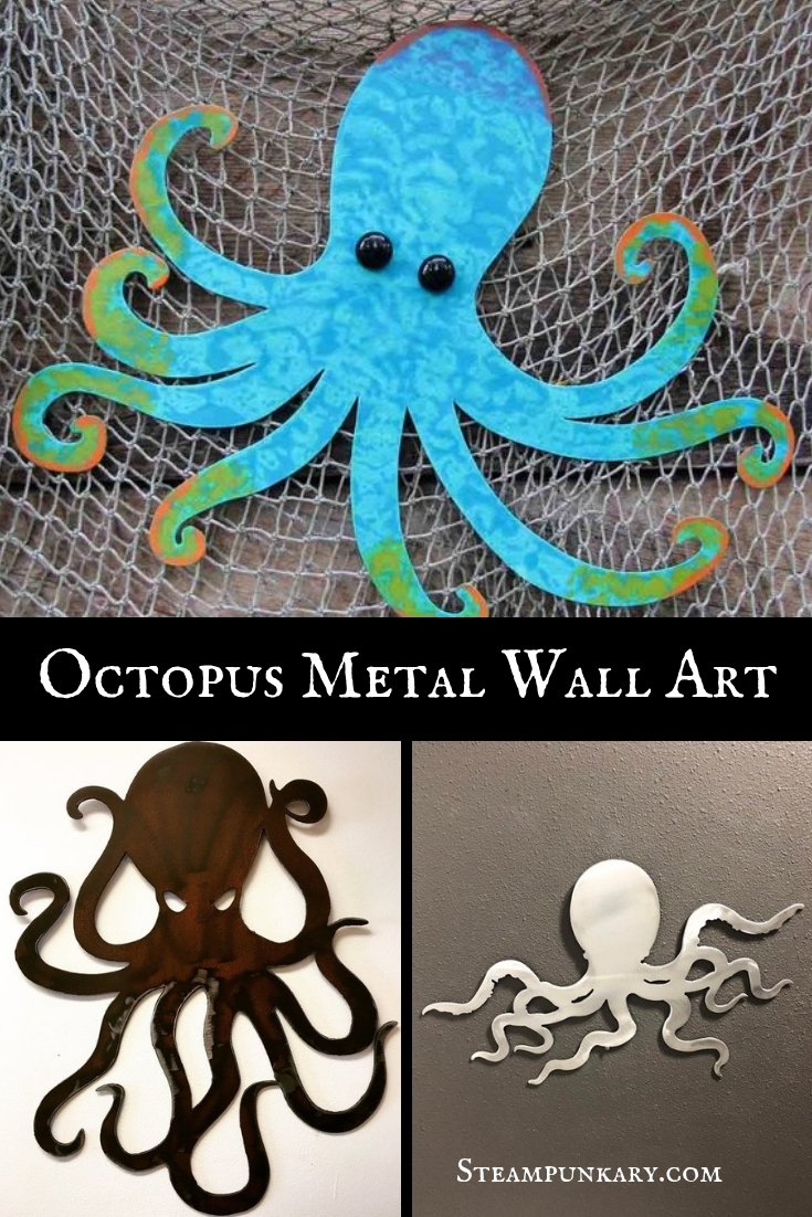 Octopus Metal Wall Art
