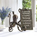 Vintage Metal Octopus Signs & Sign Holders