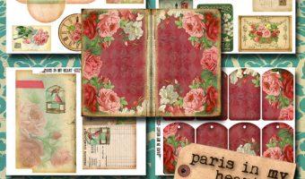 Printable Vintage & Steampunk Journal Kits