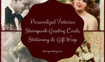 Personalized Victorian Steampunk Greeting Cards Stationary & Gift Wrap
