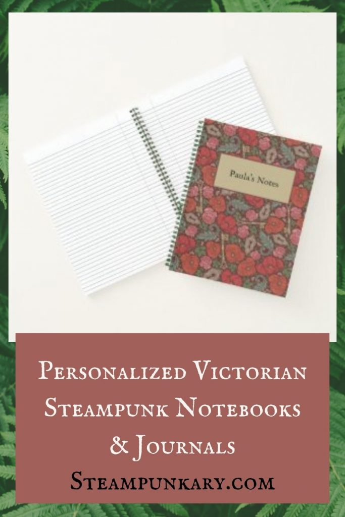 Personalized Victorian Steampunk Notebooks & Journals