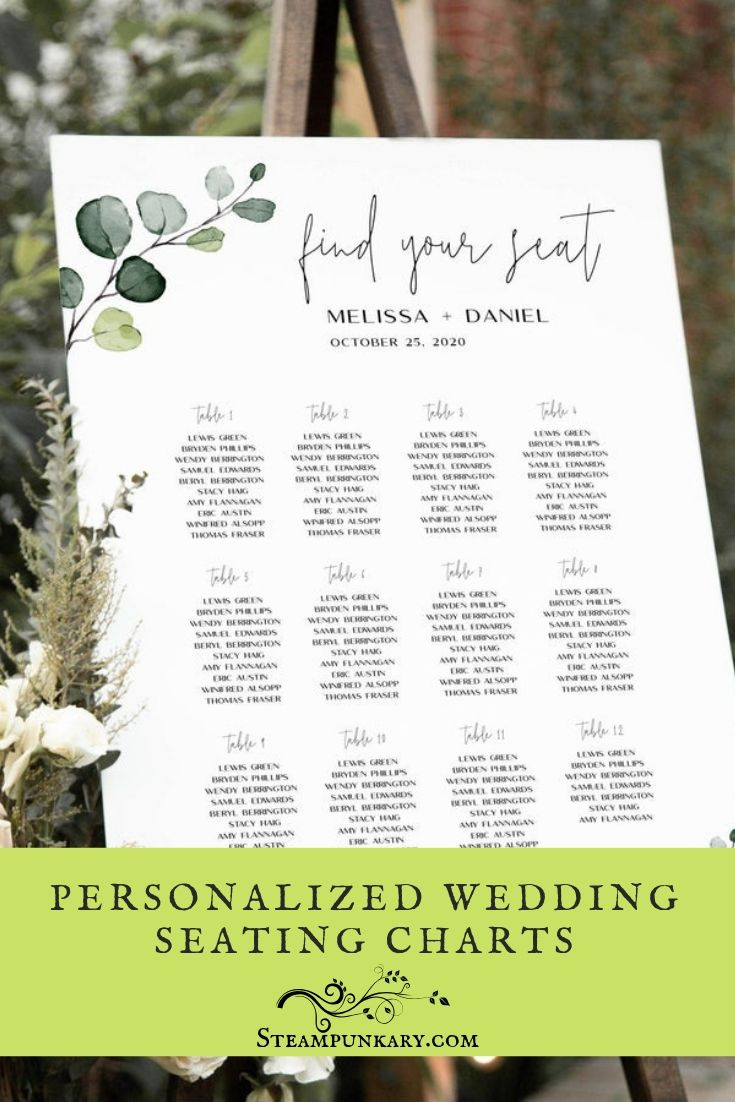 Personalized Wedding Seating Charts