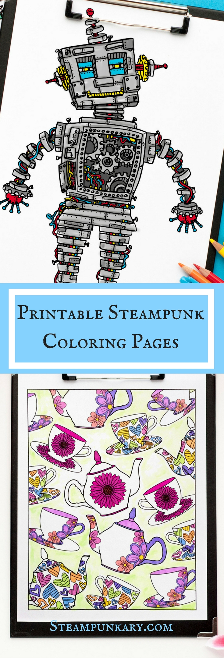 Printable Steampunk Coloring Pages