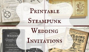 Printable Steampunk Wedding Invitations