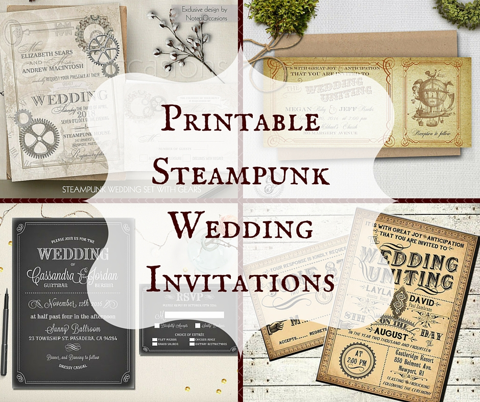 printable steampunk wedding invitations With free printable steampunk wedding invitations
