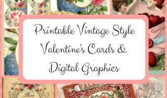 Printable Vintage Style Valentine's Cards & Digital Graphics
