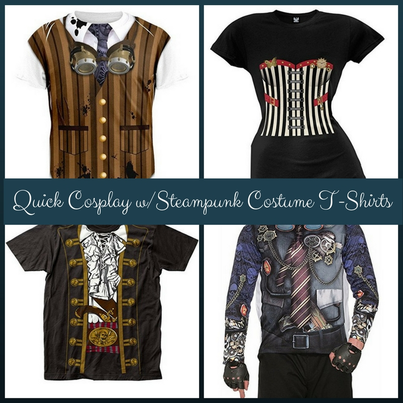 Quick Cosplay with Steampunk Costume T-Shirts