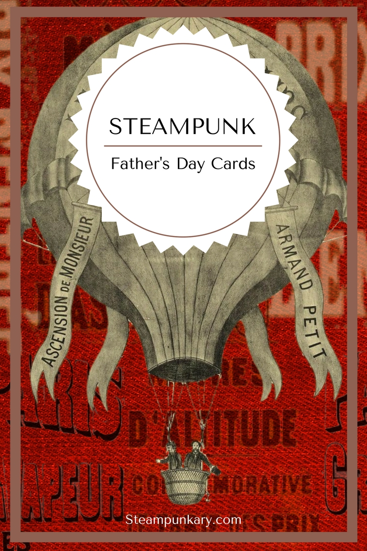 Steampunk Fathers Day Cards and Gift Wrapping/Tissue Paper