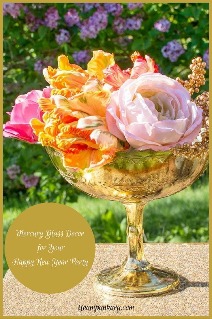 Shimmer & Shine with Mercury Glass Decor for Your Happy New Year Party