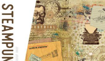 Printable Steampunk Vintage Junk Journal & Digital Paper Kits