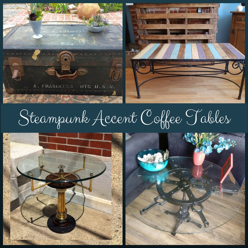 Steampunk Accent Coffee Tables I