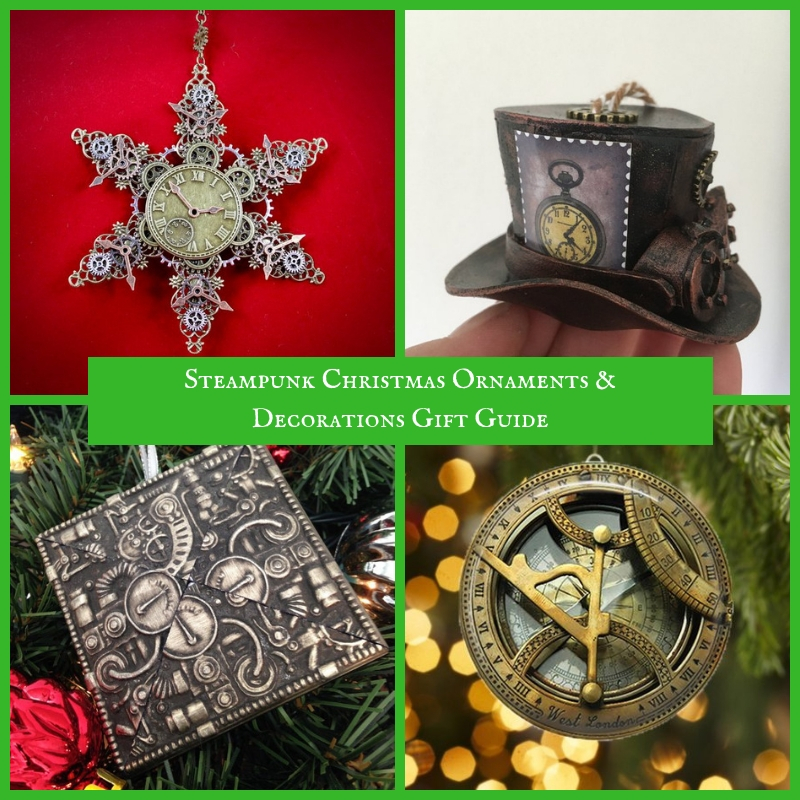 Victorian Steampunk Christmas 2020 Photos Steampunk Christmas Ornaments & Decorations Gift Guide