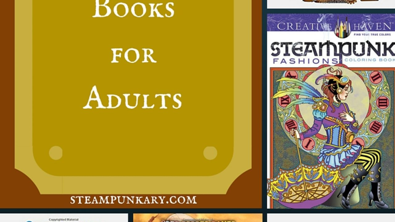 Steampunk Coloring Books For Adults Steampunkary