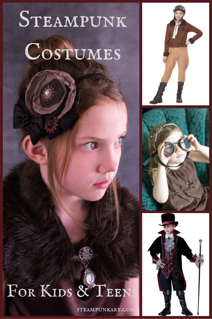Steampunk Costumes for Kids and Teens