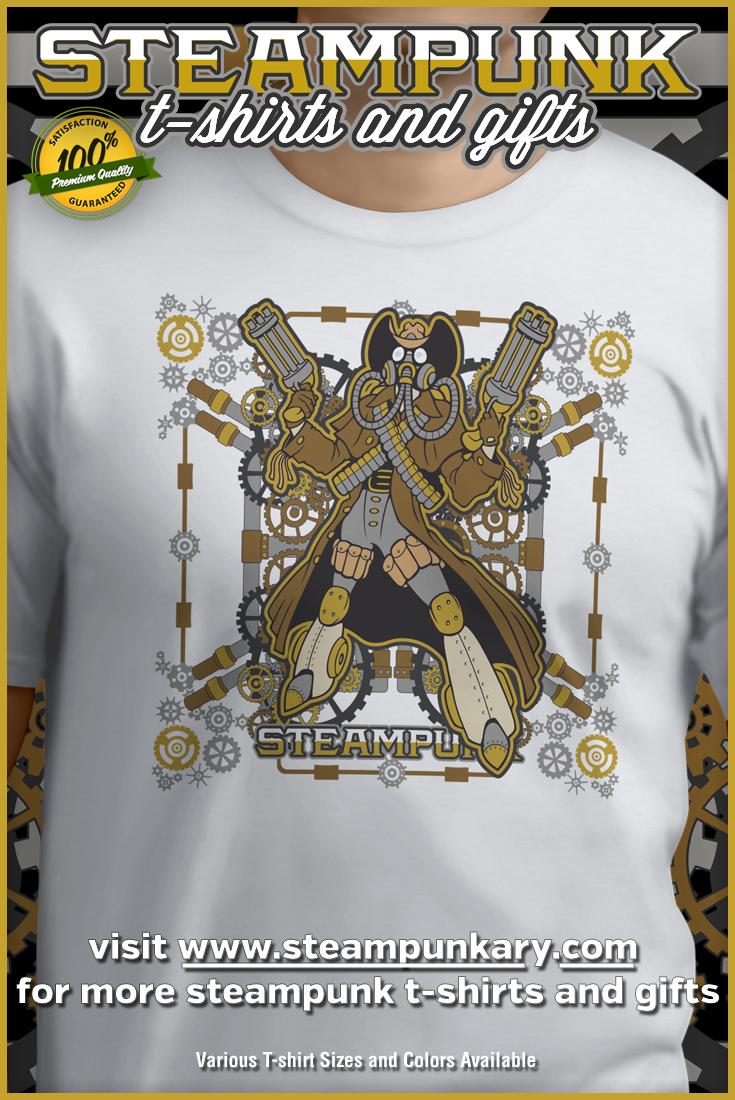 Unique Steampunk T-Shirts for Men, Women & Youth