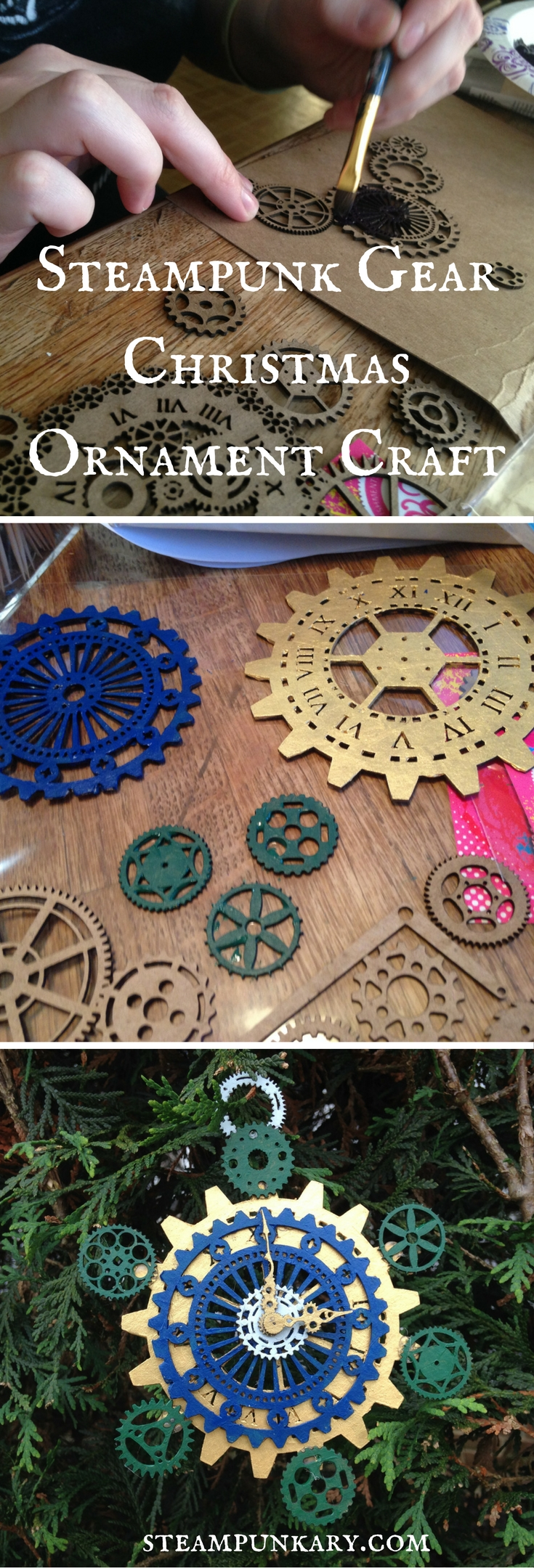 Steampunk Gear Christmas Ornament Craft