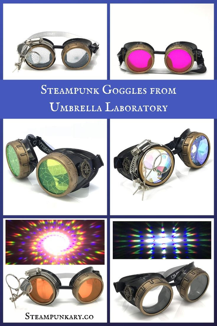 Cool Steampunk Goggles and Jewelry from Umbrella Laboratory