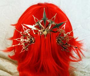 Steampunk Hair Comb Castilian