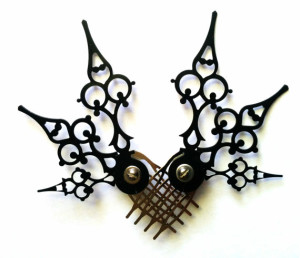 Steampunk Hair Pick Mariposa