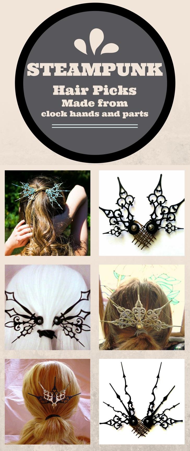 Steampunk Hair Picks